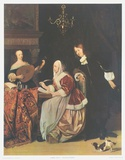 The Friends of Music Collectable Print by Gabriel Metsu