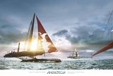America's Cup: Bridge Race I Prints by Gilles Martin-Raget
