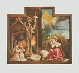 Concert of Angels and Virgin Prints by Matthias Gruenewald