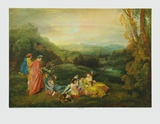 Love in the Country Collectable Print by Antoine Watteau
