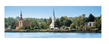 Three Churches, Mahone Bay, Nova Scotia Poster by Jeff Maihara