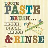 Zahnpasta Poster von Jo Moulton