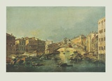 Canale Grande and Rialto-bridge, Venice Collectable Print by Francesco Guardi
