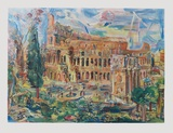 The Colosseum, Rome Collectable Print by Oskar Kokoschka