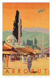 Aeroput Yugoslavia c.1930s Prints by  Marcovic