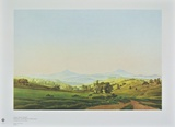 Bohemian Landscape with the Mount Milleschauer Collectable Print by Caspar David Friedrich