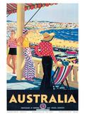Australia Beach c.1929 Affiches par Percy Trompf