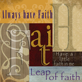 Funky Faith Poster by Lisa Wolk