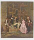 The Art Dealer Gersaint's Sign Board (left part) Collectable Print by Antoine Watteau
