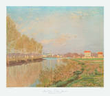 The Seine at Argenteuil with Poplars Collectable Print by Claude Monet