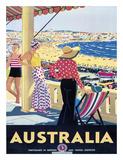 Percy Trompf - Australia Beach c.1929 - Giclee Baskı