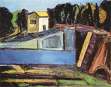 Sluice near Carcassonne Collectable Print by Thomas Niederreuther