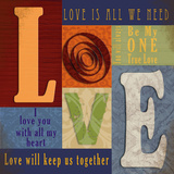 Funky Love Print by Lisa Wolk