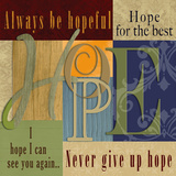 Funky Hope Prints by Lisa Wolk