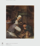 Two Farmers Enjoying a Meal Collectable Print by Adriaen Ostade