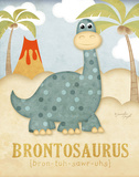 Brontosaure Affiches par Jennifer Pugh