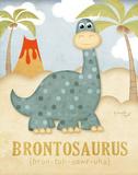 Brontosaurios Láminas por Jennifer Pugh