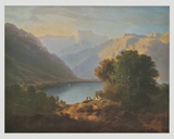 Landscape at Lake Geneva - View in Direction of Villeneuve , 1852 Prints by Alexandre Calame
