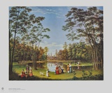 View from the Tiergarten in Berlin Collectable Print by Johann Heinrich Stuermer
