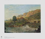 Plauensche Grund Valley near Dresden in the Eventi Collectable Print by Anton Graff