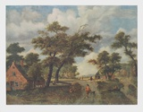 Extensive Landscape Collectable Print by Meindert Hobbema