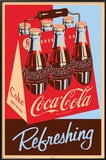 Coca Cola Refreshing 6 Pack Posters
