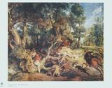 The Wild Boar Hunt Collectable Print by Peter Paul Rubens
