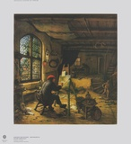 The Painter in his Studio Collectable Print by Adriaen Ostade