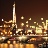 City Lights-Paris Poster by Kate Carrigan