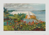 Bungalow Bermuda Impresso de peas de colees por Winslow Homer
