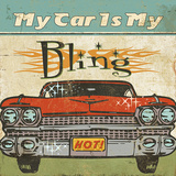 Mancave II (My Car is My Bling) Prints by  Pela