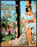 Cuba Holiday Isle of the Tropics Vintage Ad Art Print Poster Prints