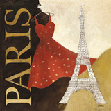 Paris Dress (A Day in the City) Art by Albena Hristova
