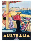 Australia Beach c.1929 Giclee Print by Percy Trompf