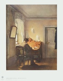 Man at Writing Desk Collectable Print by Georg Friedrich Kersting