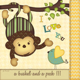 I Love You Monkey Posters af Jo Moulton