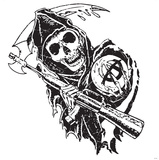 Sons of Anarchy WallJammer - Reaper with Sythe Wall Decal