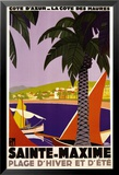 Sainte-Maxime Prints by Roger Broders