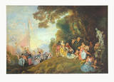 The Embarkation for Cythera Collectable Print by Antoine Watteau