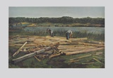 Carpenters Working on the Bank of a Lake Collectable Print by Wilhelm Trübner