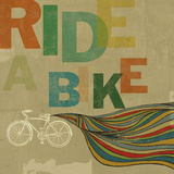 Ride A Bike Posters by Stella Bradley