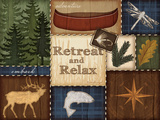 Retreat and Relax Print by Jennifer Pugh