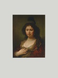 The Officer's Wife Collectable Print by  Rembrandt van Rijn