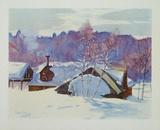 Landscape in March Samlertryk af Gray