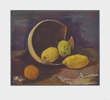 Still Life with Lemons Collectable Print by Karl Hofer