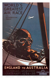 Air Race, England to Australia c.1934 Prints by Percy Trompf