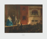 Th&#233;atre Gymnase Collectable Print by Adolph Menzel