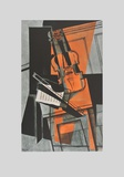 The Violin (on Handmade Paper) Collectable Print by Juan Gris