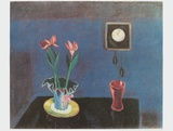 Stil Life with Wall-Clock Collectable Print by Walter Gramatté