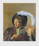 Singin Boy with a Flute Collectable Print by Frans Hals